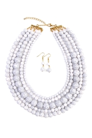 Riah Fashion Globe Strand Necklace Set - Front cropped