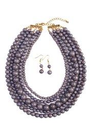Riah Fashion Globe Strand Necklace Set - Product Mini Image