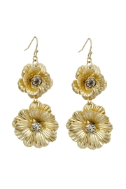 Riah Fashion Gold Filigree Drop Earrings - Front cropped
