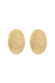 Riah Fashion Goldtone Oval Post-Earrings - Product Mini Image