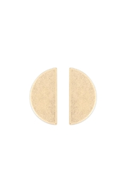 Riah Fashion Goldtone Post Earrings - Product Mini Image
