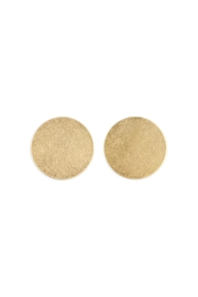 Riah Fashion Goldtone Round Post-Earrings - Product Mini Image
