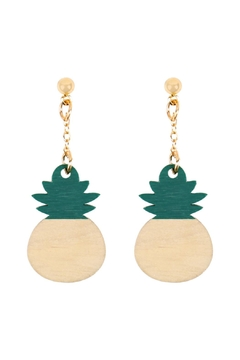 Riah Fashion Green Pineapple Earring - Product List Image