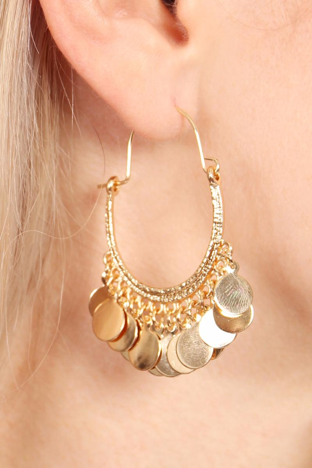 Riah Fashion Gypsy Dangling Earrings - Front Full Image