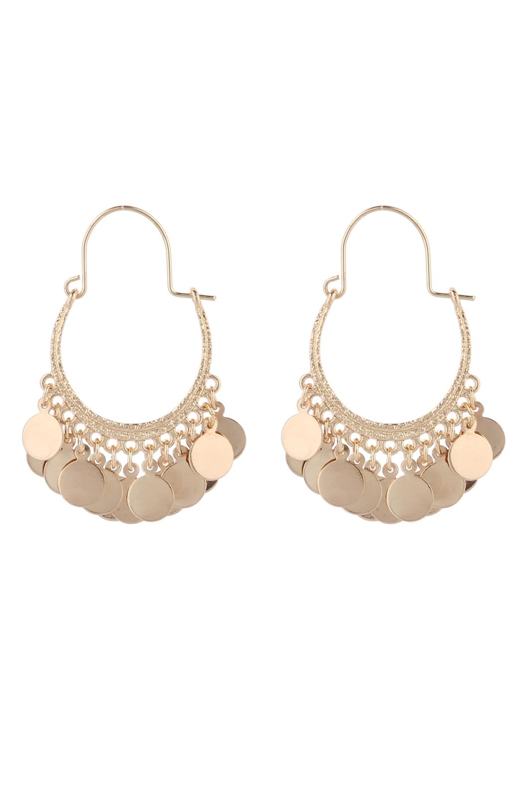 Riah Fashion Gypsy Dangling Earrings - Main Image