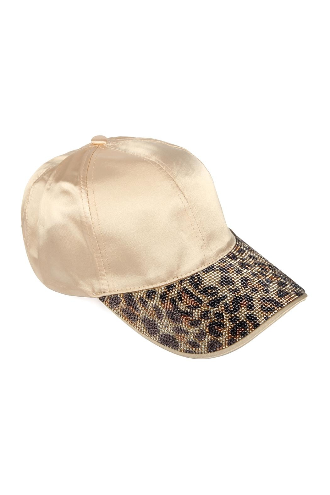 Riah Fashion Ha-Satin With Leopard-Visor - Front Cropped Image