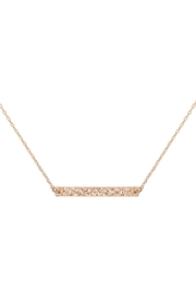 Riah Fashion Hammered-Brass-Bar-Necklace - Product Mini Image