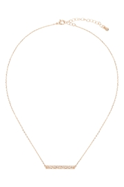 Riah Fashion Hammered-Brass-Bar-Necklace - Front full body
