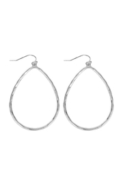 Riah Fashion Hammered Cast Earrings - Product Mini Image
