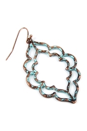 Riah Fashion Hammered Casting Earrings - Front full body