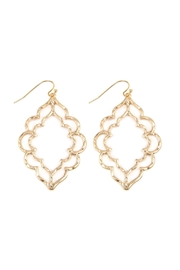 Riah Fashion Hammered Casting Earrings - Front cropped