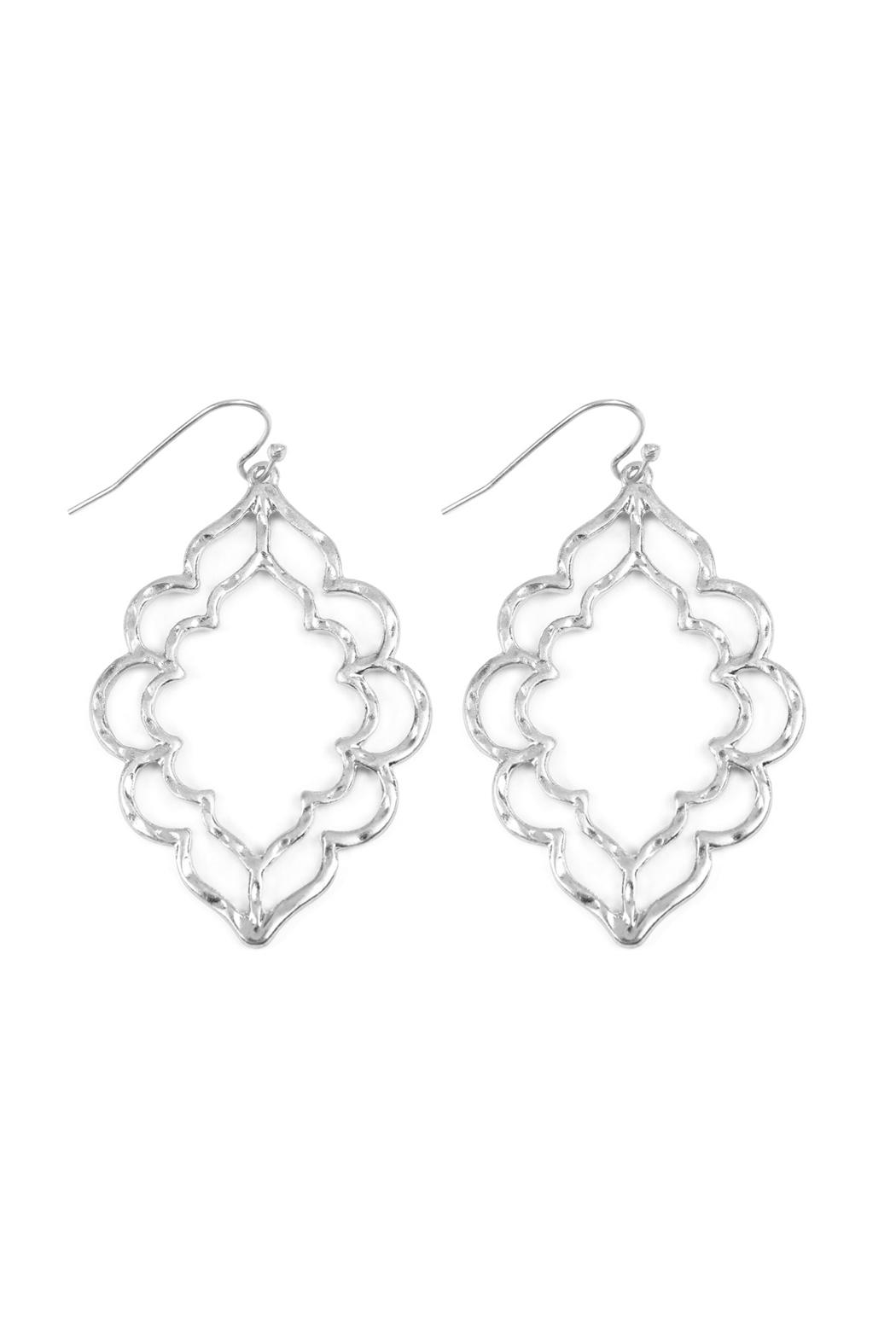 Riah Fashion Hammered Casting Earrings - Side Cropped Image