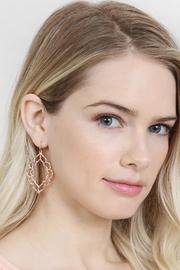 Riah Fashion Hammered Casting Earrings - Side cropped