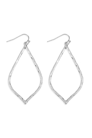 Riah Fashion Hammered-Marquise Casting-Earrings - Product Mini Image