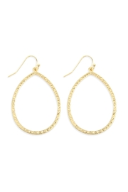 Riah Fashion Hammered Teardrop Earrings - Product Mini Image