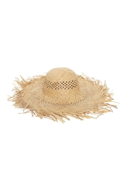 Riah Fashion Hand-Woven-Vented-Straw-Summer-Brim-Hat - Front cropped