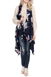 Riah Fashion Handkerchief Floral Cardigan - Product Mini Image
