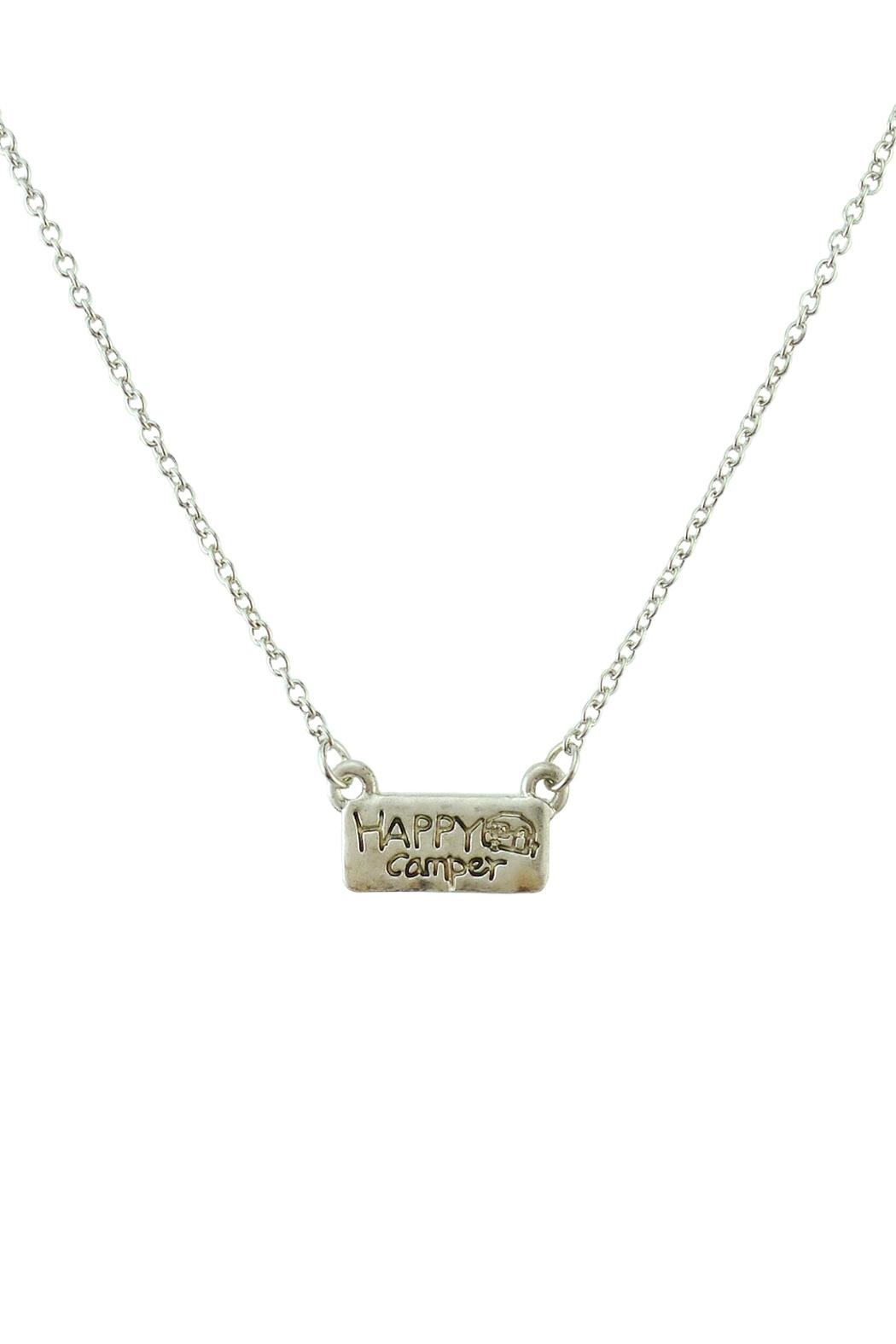 Riah Fashion Happy-Camper Cute Pendant-Necklace - Front Cropped Image