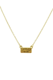 Riah Fashion Happy-Camper Cute Pendant-Necklace - Front cropped