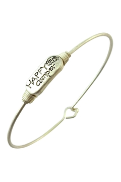 "Shoptiques Product: ""Happy Camper"" Engraved-Wired-Bracelets"