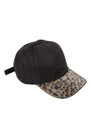 Riah Fashion Hat-Suede With Leopard-Visor - Product Mini Image