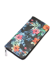 Riah Fashion Hawaiian Flower Print Wallet - Product Mini Image