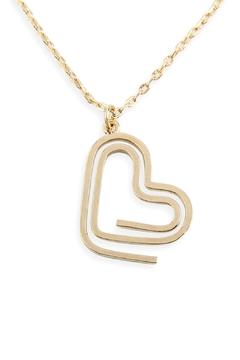 Riah Fashion Heart Clip Pendant Necklace - Product List Image