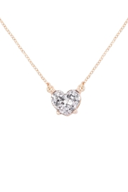 Riah Fashion Heart Glitter Epoxy Necklace - Front cropped