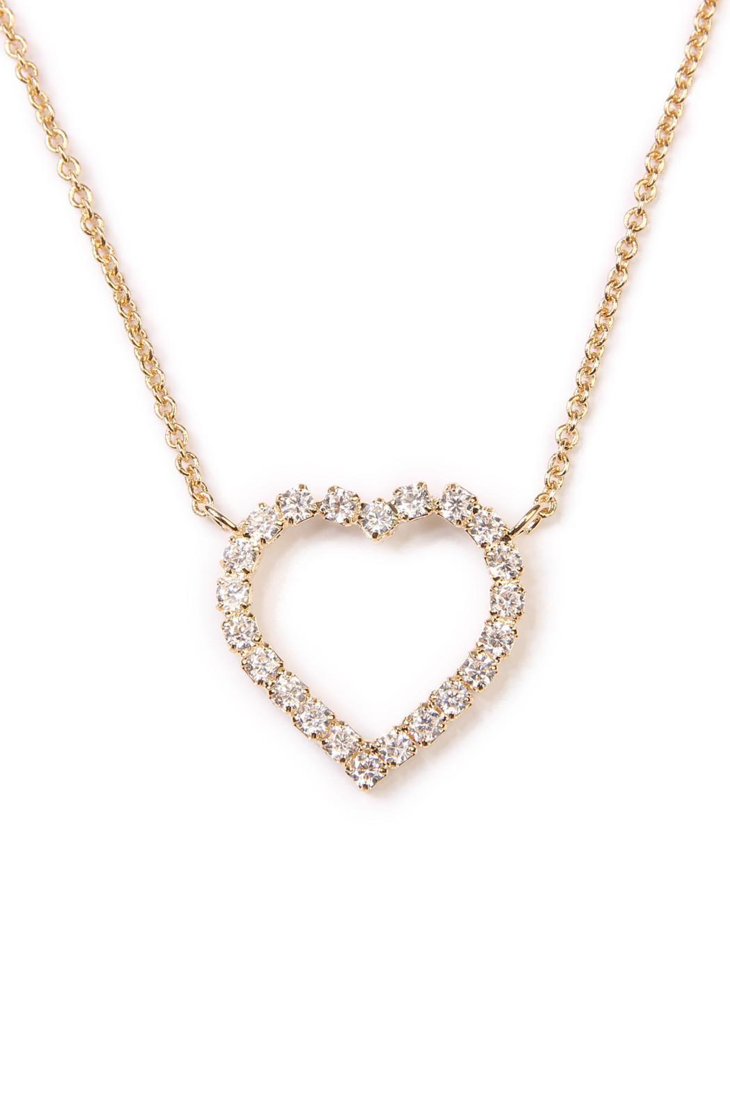Riah Fashion Heart Pendant Necklace - Back Cropped Image