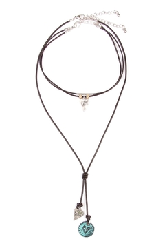 Shoptiques Product: Heart Pendant Choker Necklace