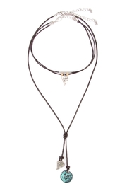 Riah Fashion Heart Pendant Choker Necklace - Product Mini Image