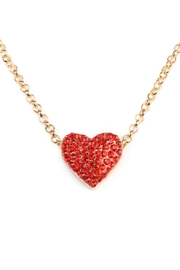 Riah Fashion Heart Pendant Layered Choker - Front full body