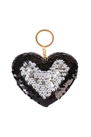 Riah Fashion Heart Reversible-Sequin Keychain - Product Mini Image