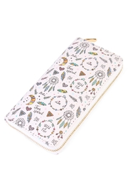 Riah Fashion Hippie Peace Zipper Wallet - Product Mini Image