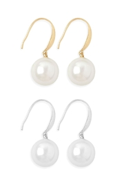 Riah Fashion Hook With Shell Pearl Earrings/12pcs - Product Mini Image