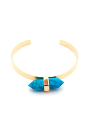 Riah Fashion Horizontal Stone Cuff Bracelet - Product Mini Image