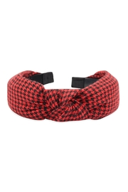 Riah Fashion Houndstooth Fabric-Knotted-Headband - Product Mini Image