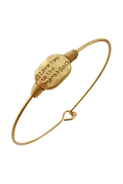 "Shoptiques Product: ""I-Love-You-To-The-Moon-&-Back"" Wired Bracelet"