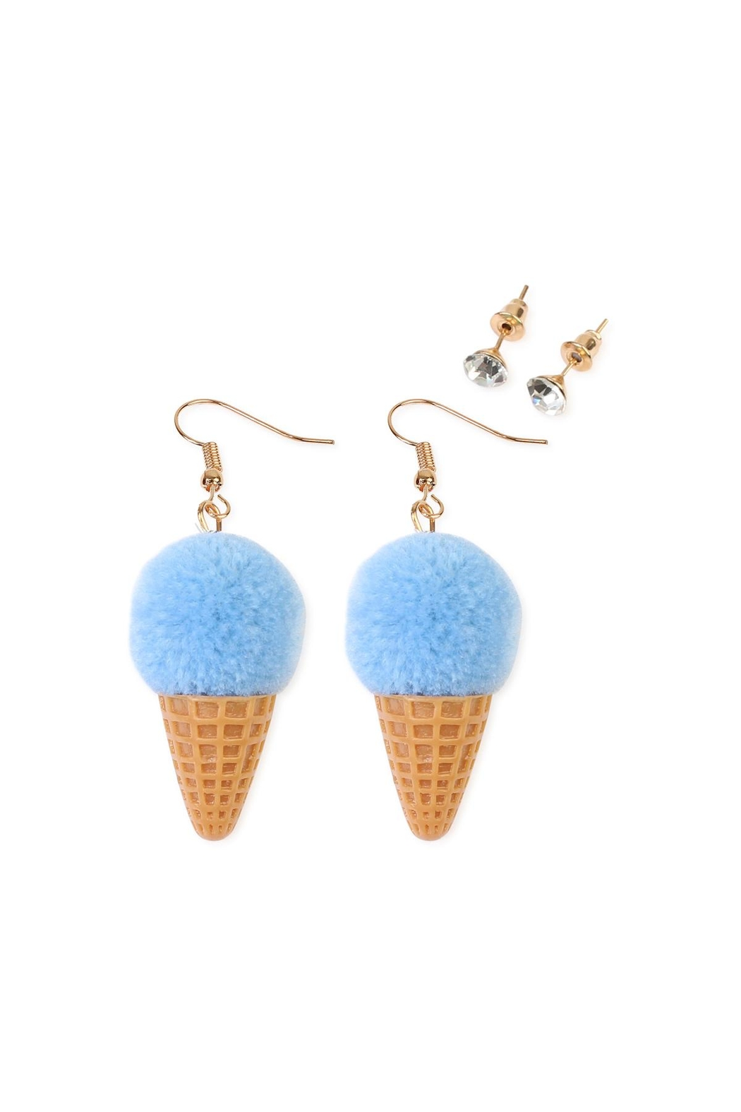 Riah Fashion Ice-Cream Cone Earring-Set - Main Image