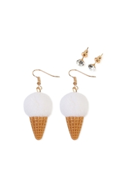 Riah Fashion Ice-Cream Cone Earring-Set - Front cropped