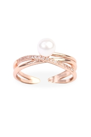 Riah Fashion Infinfty Pearl Ring - Product Mini Image