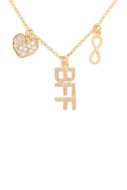 Riah Fashion Infinity-Heart-Bff-Cubic-Zirconia-Pendant-Necklace - Product Mini Image
