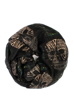 Shoptiques Product: Infinity Sugar-Skull Scarf