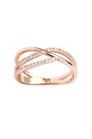Riah Fashion Infinity Wave Closed Ring - Product Mini Image