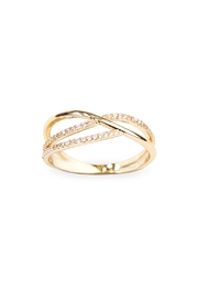Riah Fashion Infinity-Wave Closed Ring - Front cropped