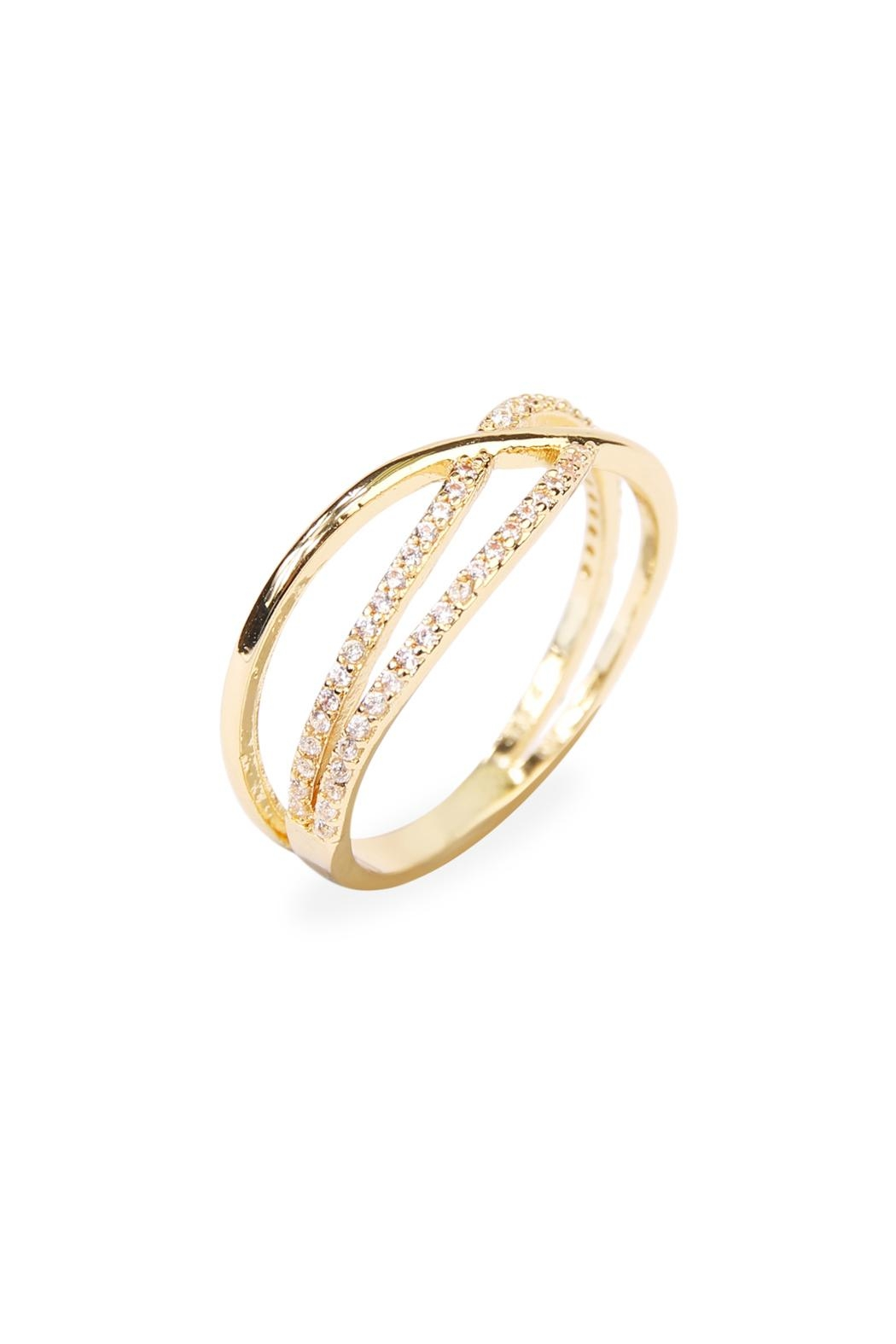 Riah Fashion Infinity-Wave Closed Ring - Front Full Image