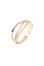 Riah Fashion Infinity-Wave Closed Ring - Front full body