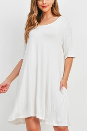 Riah Fashion Ivory Dress - Front cropped