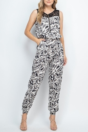 Riah Fashion Ivory Jumpsuit - Front cropped
