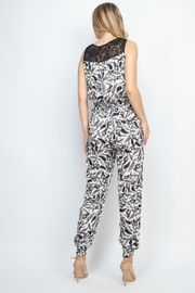 Riah Fashion Ivory Jumpsuit - Front full body